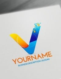 Free Letters Logo Maker - Modern V Logo Creator