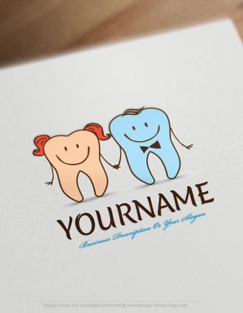 Make own Pediatric Dentistry Logo Online - Free Dentist Logo Maker
