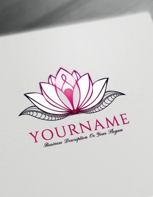 Pink Lotus Tattoo Design Free Lotus Logo Maker Online