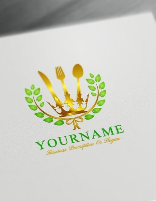 Create your own Green Royal Restaurant Logos Online using the best Free Food Logo Maker.
