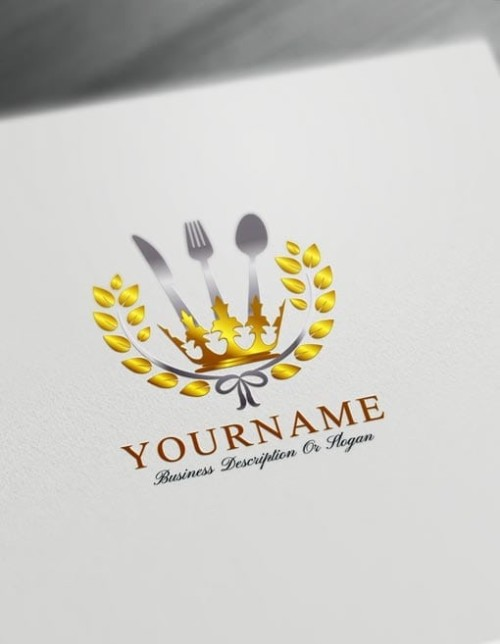 Create your own Royal Restaurant Logos Online using the best Free Food Logo Maker.
