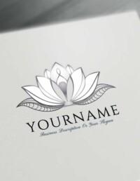 Wedding Lotus Tattoo Design Free Lotus Logo Maker Online