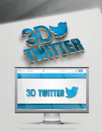 3D Twitter Profile Header - Twitter cover