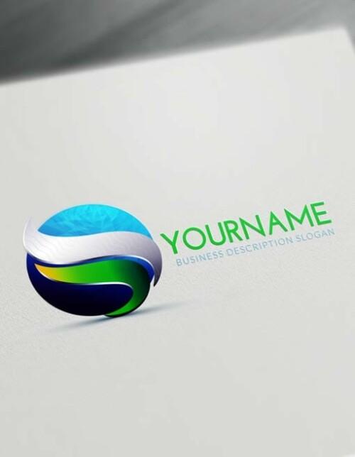 Free 3D Logo Maker Online - Green Textured 3D Logo Creator