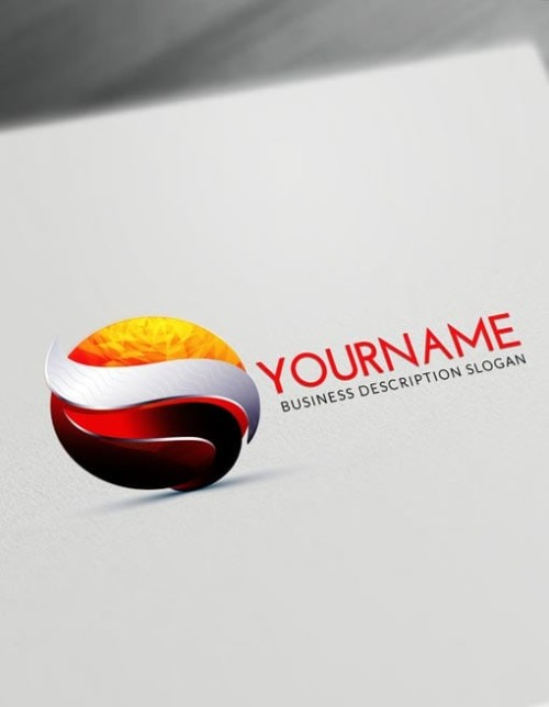 Fire Red Free 3D Logo Maker Online - Textured 3D Logo Creator