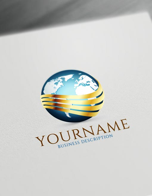 Globe Logo template - free online logo maker and download