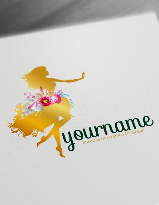 Gold Flower girl brand Logo design