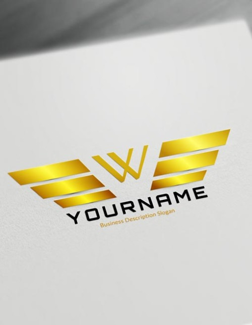 Wings Logo maker Make a logo with DesignFreeLogoOnline
