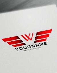 Red Wings Logo maker Make a logo with DesignFreeLogoOnline