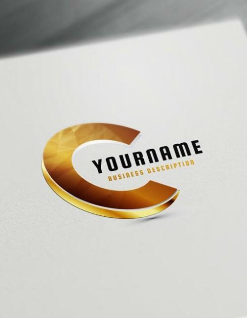 Gold 3D Logo Maker