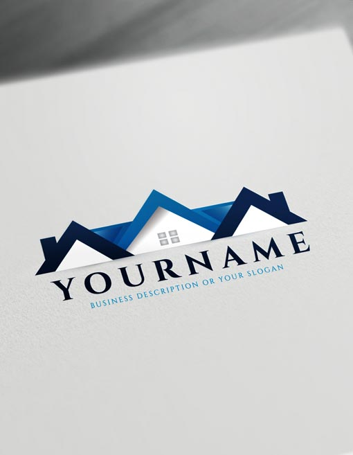 Home Logo Real estate Logo Maker - free online logo maker and download