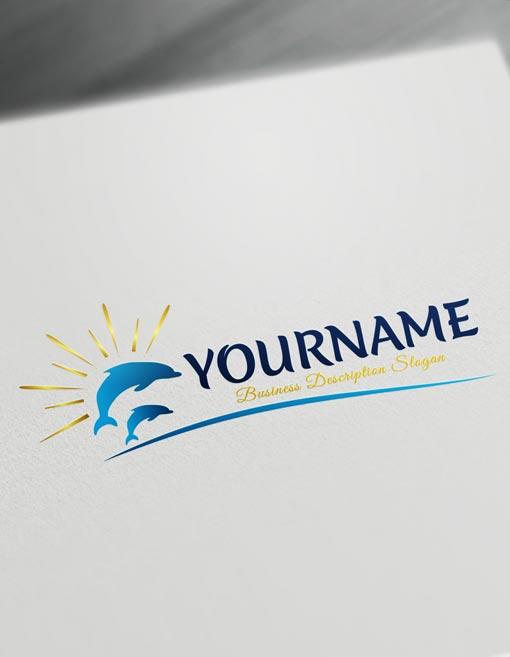 Dolphins Logo Design templates - Dolphin logo maker Online