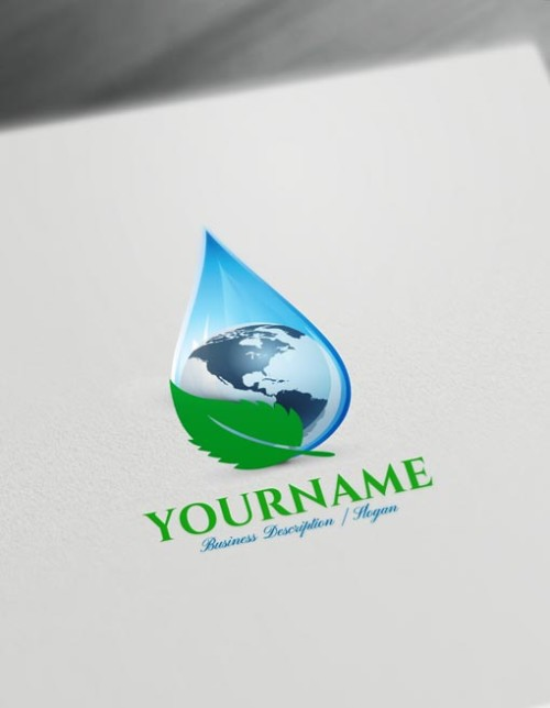 Create a Logo - Water Drop Logo Maker online