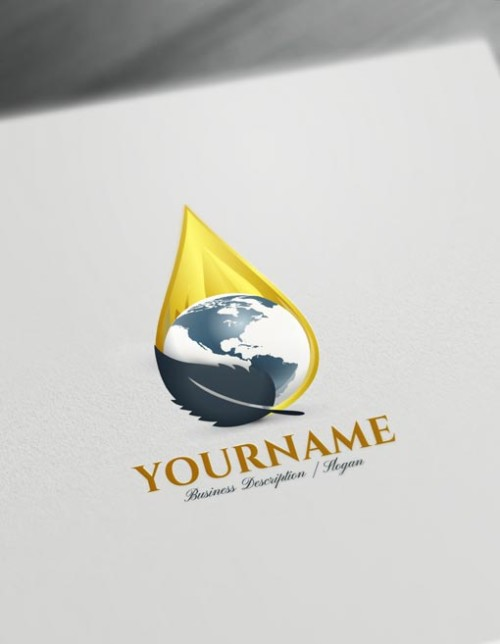 Create a Logo Oil Drop Logo Maker online