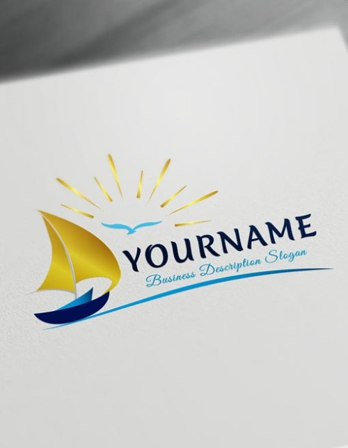 Boat Logo Design Online - Sailing logos Maker Create Sail Logo