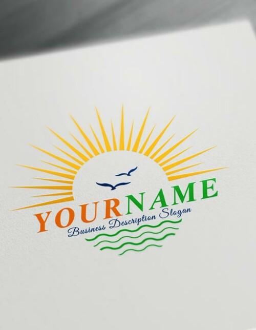 landscaping Logo Design Online - blue Sky logos Sun logo maker
