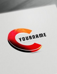 Gold 3D Logo Maker letter C logo creator - free online logo maker and download