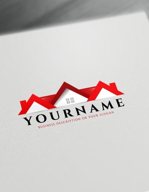 Red Home Logo Real estate Logo Maker - free online logo maker and download