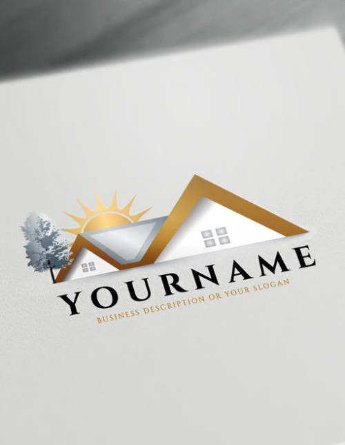 Construction Logo Maker House logo creator - free online logo maker and download