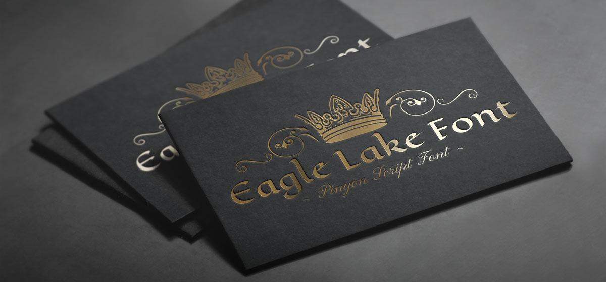 Pinyon Script Font Eagle Lake Font types