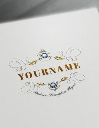 Floral Monogram Maker Design - Create Cool Logos Online