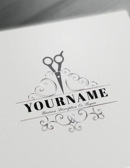 Cool Logo Maker - Hair Salon Logo Design Template - Barber Logos
