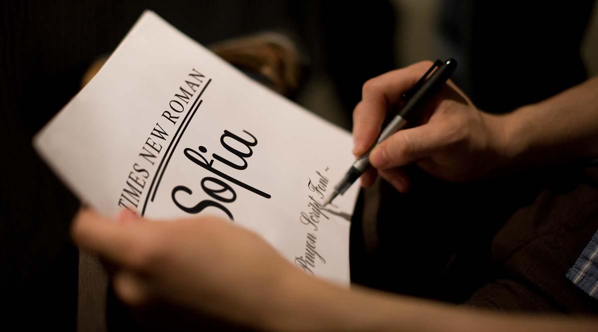 sofia Times New Roman Pinyon Script Font