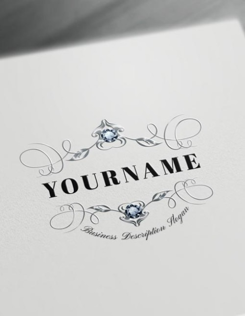 Wedding Floral Monogram Maker Design - Create Cool Logos Online