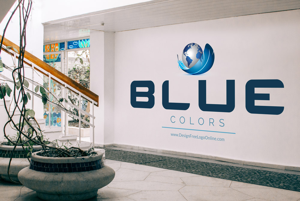 blue colors logo ideas