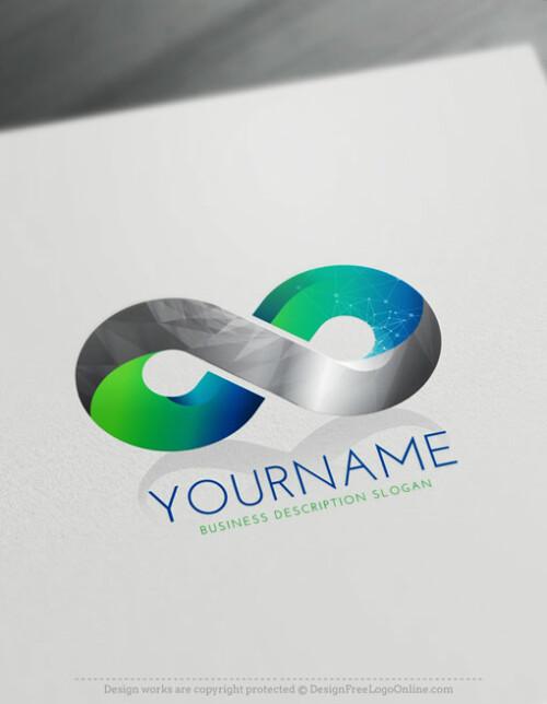3D Logo Maker - Free online Infinity symbol