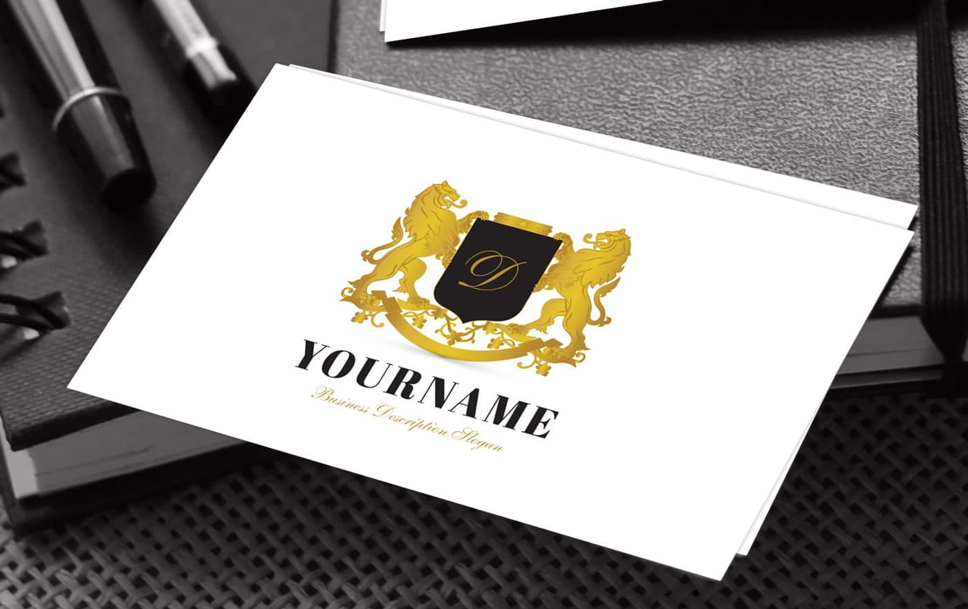 letter logos vintage lion logo design idea