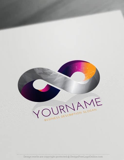 3D Logo Maker – Free online Infinity symbol