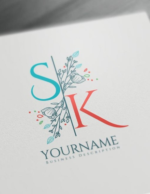 Floral Letter logos - Monogram Maker Design - Create Cool Logo Ideas