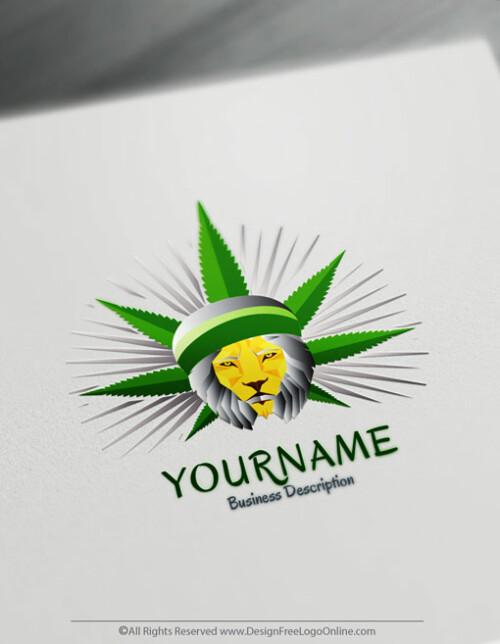 Design Free silver Cannabis Logo Marijuana Logo Maker