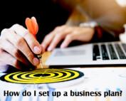 How do I set up a business plan?