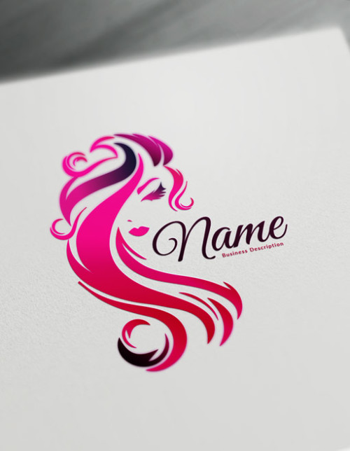 Pink Beauty Logo Maker - free logo design templates - Hair logos