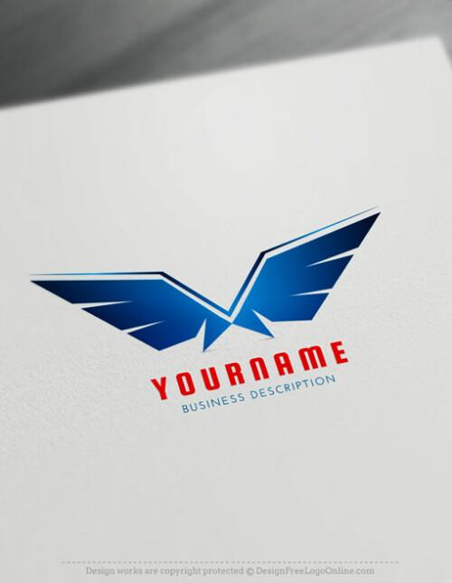 Blue Wings Logo Maker - Free online Eagle Logo Wings symbol