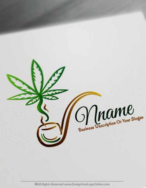 Design Free Gold Cannabis Logo Maker Marijuana Logos