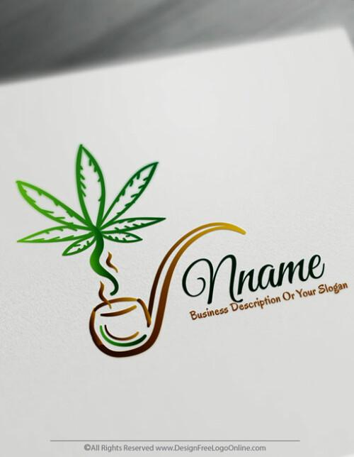 Design Free Gold Cannabis Logo Maker Marijuana Logos