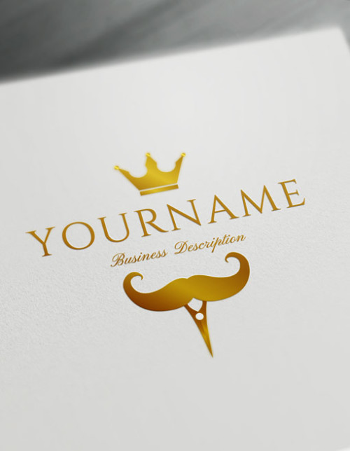 Gold Barbers Logo Maker - Create Your Own Cool Barber Logo