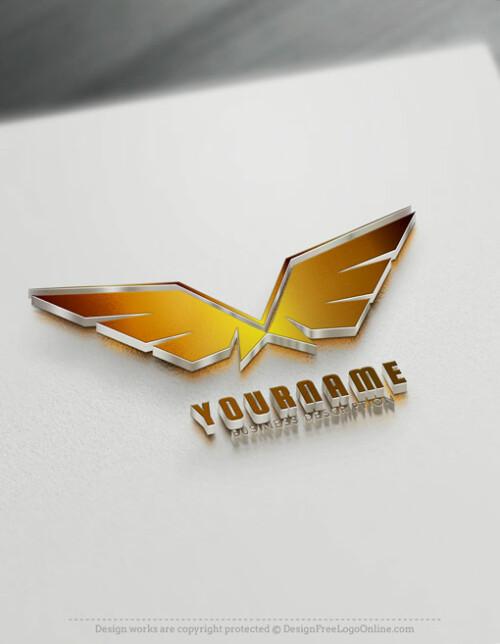 Gold Wings Logo Maker - Free online Eagle Logo Wings symbol