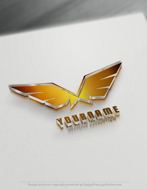Gold Wings Logo Maker - Free online Eagle Logo Wings symbol