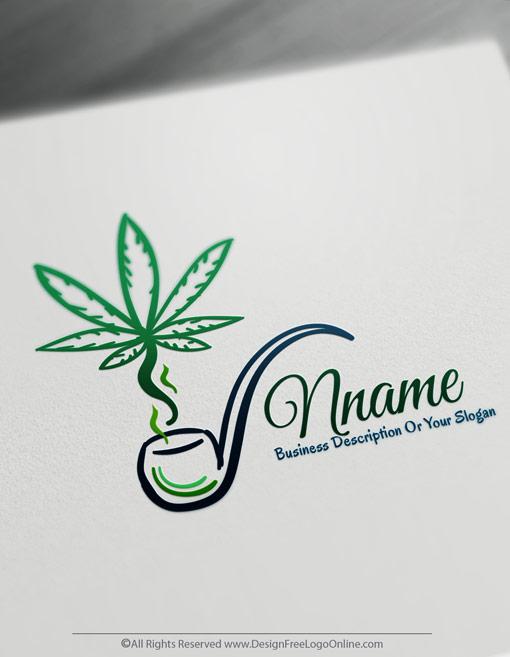 Design Free Cannabis Logo Maker Medical Marijuana Logos