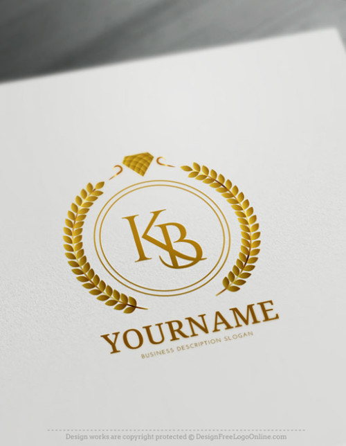 Gold Jewelry logo maker Wedding Logos diamond ring logo
