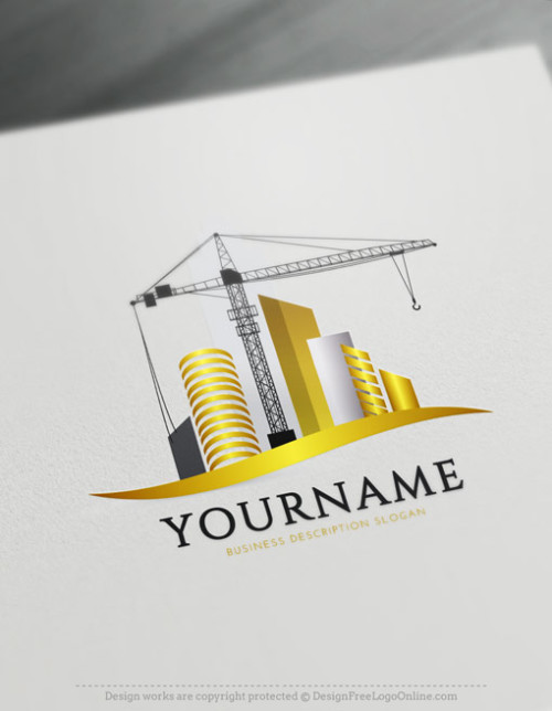 Free Construction Logo Maker - Urban Crane Logo Design Ideas