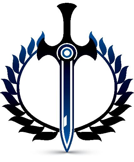 Sword Logo Maker - Heraldic Symbol - Laurel Wreath Logos