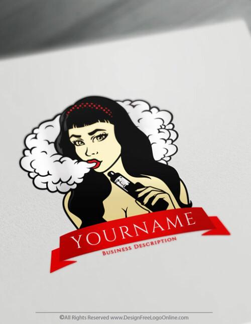 Design Vaping Logo with theVape Logo Maker