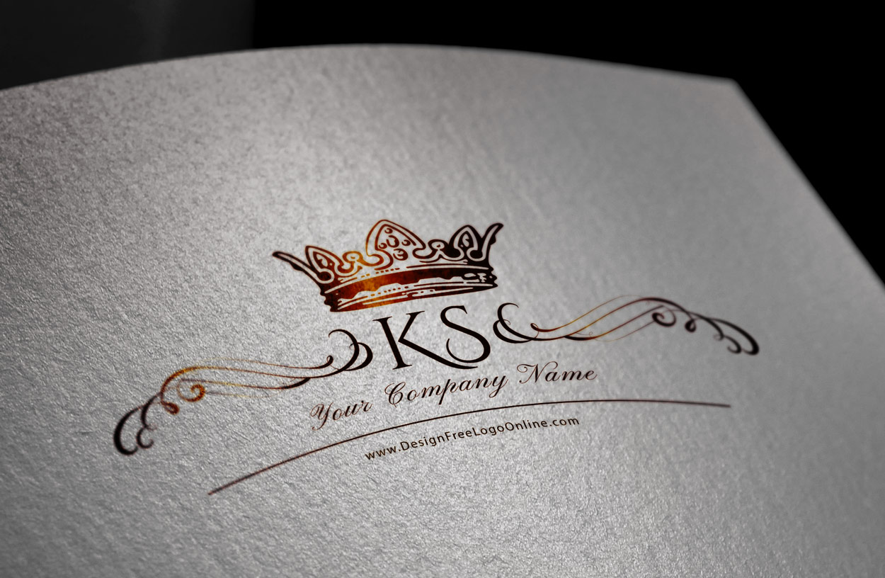 Crown Letter Logo Maker Monogram Maker
