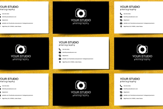 Product Photography Business Card Template