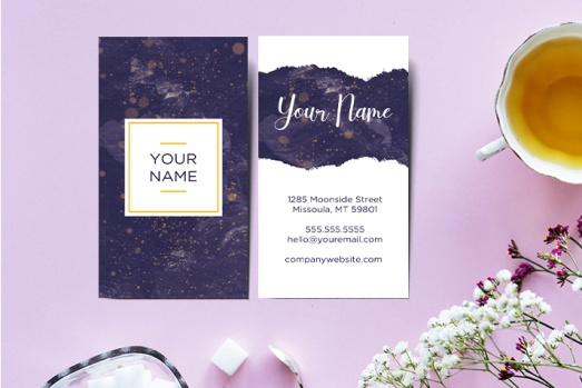 Vertical Free Business Card